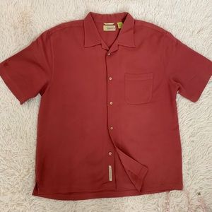 Cubavera Mans Button Down Short Sleeve Shirt